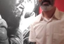 Alberto Prieto en la exposición. Jecala