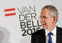 Alexander Van der Bellen en la campaña electoral de 2016