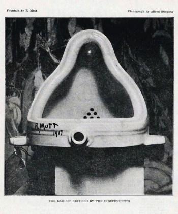 Alfred Stieglitz, La Fuente, R. Mutt, 1917