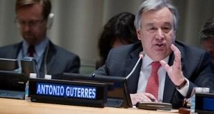 António Guterres defiende su candidatura a la Secretario General de la ONU, el 12 de abril de 2016, ante la Asamblea General. Foto: ONU/Manuel Elías