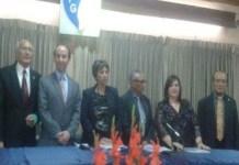 Junta Directa de la APG Junto al procurador de Derechos Humanos durante la celebración del 68 aniversario.