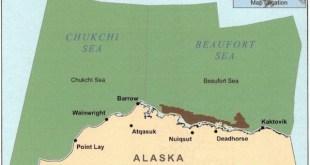 Mapa de la zona afectada por la prohibición de perforar en el Ártico adoptada en diciembre de 2016 por EEUU y Canadá