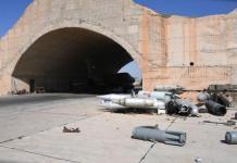 Base aérea siria atacada por EE. UU.. Foto: ANDES/ AFP
