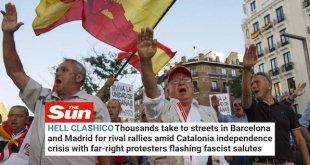 Repercusión internacional de las manifestaciones fascistas en Barcelona