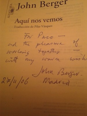 John Berger, dedicatoria