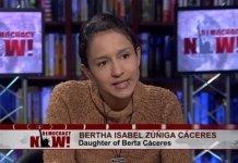 Bertha Zúñiga Cáceres en una entrevista en Democraci Now