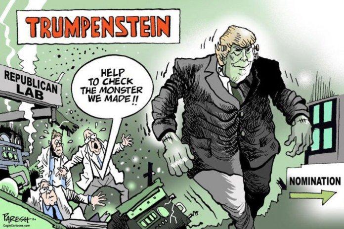 Caricatura sobre Trump en 'The Khaleej Times' (Dubai). Autor: Paresh Nath