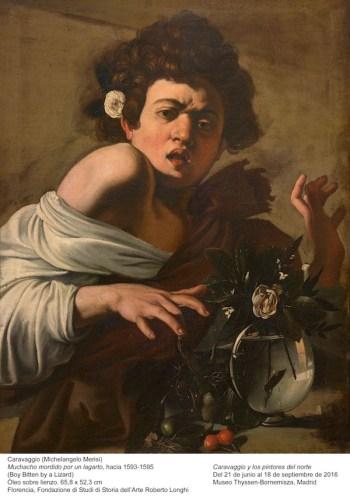 Caravaggio: muchacho mordido por un lagarto