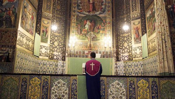 Interior de la catedral de Vank en Isfahán.