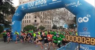 #CorrePorSiria, momento de la salida de corredores en el Paseo de la Castella de Madrid. 2017 19FEB