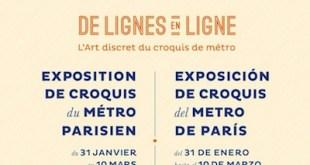 De lignes en ligne: cartel de la exposición en Madrid