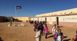 Escolares saharauis en los campamentos de Tinduf.