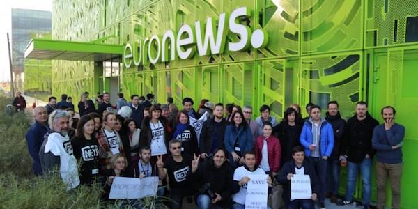 Euronews, trabajadores en paro el día 5 de diciembre de 2016