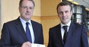 Richard Ferrand con Emmanuel Macron