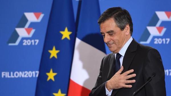 Francois Fillon en la campaña de primarias del centro derecha francés para las elecciones presidenciales de 2017