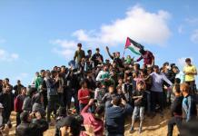 """Manifestantes palestinos de la """"Marcha del regreso"""""""