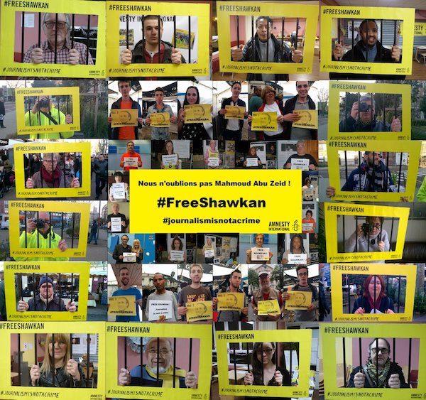 Campaña de Amnistía por la liberación de Shawkan