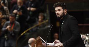 Gabriel Rufián, diputado de ERC, en el Congreso