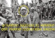 Gerardo Iglesias sale de la mina en un cartel de Izquierda Unida