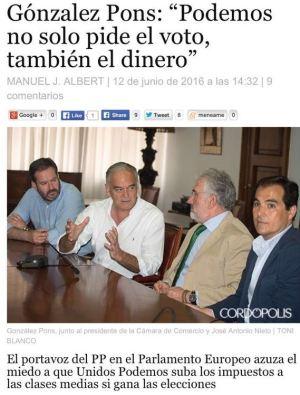 González Pons en la Cámara de Comercio