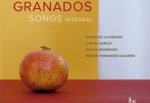 Granados Songs Integral, carátula