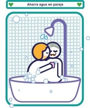Greenpeace-ducha-pareja