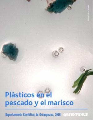 Greenpeace, portada del informe Plásticos en el pescado y el marisco
