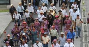 Guatemala: Marcha del Día de la Dignidad y la Resistencia Indígena Foto Asamblea Social y Popular (ASP) copia