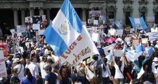 Manifestación contra la corrupción en Guatemala, 2015.