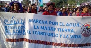 Guatemala: marcha por el agua en el Día de la Tierra. Foto: ASP