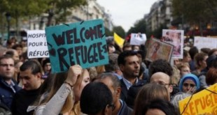 Francia: manifestaciones de apoyo a los refugiados que legan a Europa