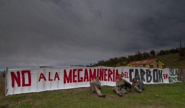 Isla de Riesco, protestas por la minería del carbón