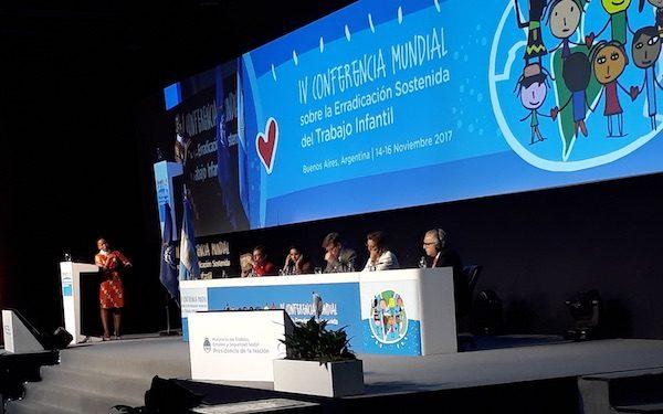 IV Conferencia Mundial sobre la Erradicación Sostenida del Trabajo Infantil, Buenos Aires, 16 NOV 2017. Foto: Daniel Gutman/ IPS