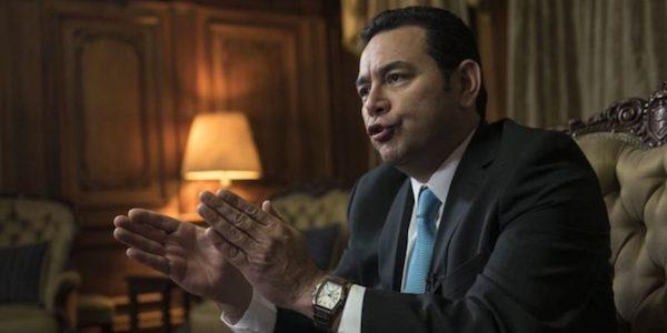 Jimmy Morales, presidente de Guatemala, 2017.