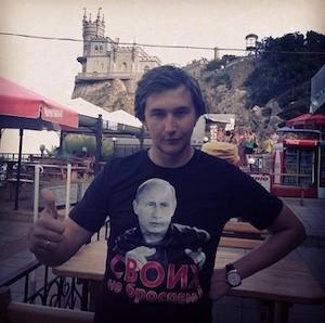 Foto de Karjakin que subió a Instagram de apoyo a Putin tras la anexión de Crimea.