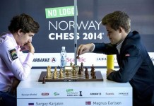 Karjakin y Carlsen en un encuentro en 2014