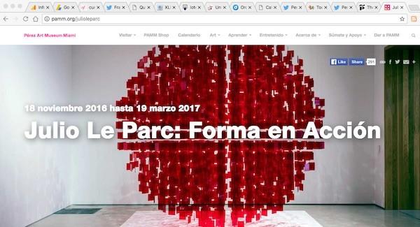 Le-Parc, exposición en el Museo de Arte Pérez de Miami-PAMM