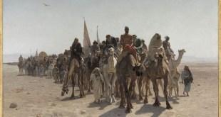 Léon Belly: Peregrinos yendo a La Meca, 1861. Óleo sobre lienzo, 160 x 242 cm. París, Musée d'Orsay © RMN-Grand Palais (musée d'Orsay) / Franck Raux / Stephane Marechalle