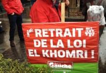 """París, 31 de marzo de 2016, protesta contra el proyecto de ley """"El Khomri"""""""