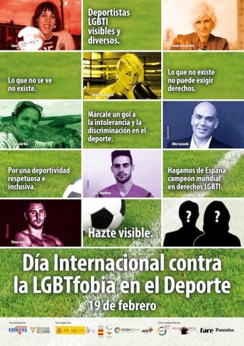 Póster contra la LGBTfobia en el deporte