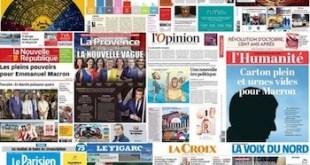 Portadas dedicadas a la victoria electoral de Macron en Francia