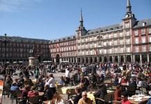 Madrid. Plaza Mayor, terrazas