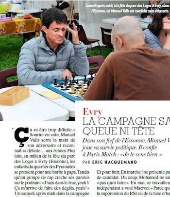 Manuel Valls juega en su pueblo, Evry