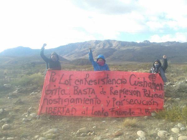 Movilizaciones mapuches en Lof Cushamen, Resistencia, Argentina