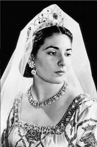 Maria Callas en el escenario