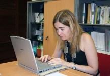 Marta Rivera de la Cruz en una foto de archivo en los cursos de verano de Baeza en 2007