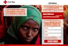 Banner de la Cruz Roja sobre la campaña 2017 contra la mutilación genital femenina