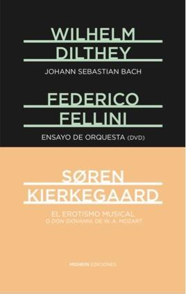 Portada de la edición de Mishkin dedicada a Mozart, Bach y Fellini