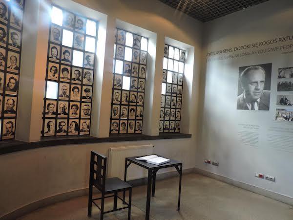 Museo sobre la antigua fábrica Schindler: sala homenaje