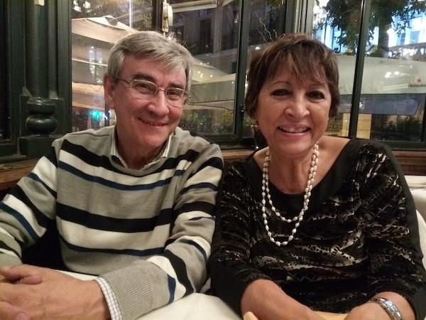 Paco Pastoriza e Ileana Alamilla en El Espejo, noviembre de 2017